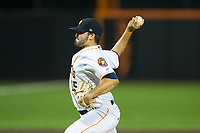 Buies Creek Astros relief pitcher Nick Hernandez (15) in action against the Wilmington Blue Rocks at Jim Perry Stadium on April 29, 2017 in Buies Creek, North Carolina.  The Astros defeated the Blue Rocks 3-0.  (Brian Westerholt/Four Seam Images)