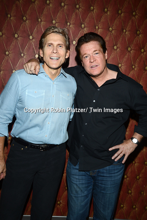 Grant Aleksander and Michael O' Leary attend Daytime Stars and Strikes Charity Event benefitting The American Cancer Society on October 13, 2013 at Bowlmore Lanes in Time Square in New York City.