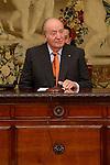 """King Juan Carlos during the """"Premio de Economía Rey Juan Carlos"""" to Jose Luis Garcia Delgado at Banco de España in Madrid. November 17, Spain. 2016. (ALTERPHOTOS/BorjaB.Hojas)"""