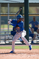 Chicago Cubs center fielder Chris Singleton (21) during a Minor League Spring Training game against the Oakland Athletics at Sloan Park on March 19, 2018 in Mesa, Arizona. (Zachary Lucy/Four Seam Images)