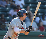 Photo of the Greenville Drive in a game against the Rome Braves on July 8, 2012, at Fluor Field at the West End in Greenville, South Carolina. (Tom Priddy/Four Seam Images)