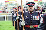 The Toronto Police Service Honour Guard at the 155th Queen's Plate at Woodbine Race Course in Toronto, Canada on July 06, 2014.