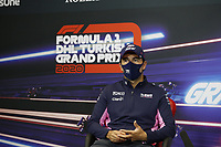 12th November 2020; Istanbul Park, Istanbul, Turkey;   FIA Formula One World Championship 2020, Grand Prix of Turkey, 11 Sergio Perez MEX, BWT Racing Point F1 Team pre race press conference