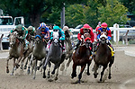 August 28, 2021: The field for the Grade 1 Personal Ensign, led by #6 Letruska ridden by jockey Irad Ortiz Jr. enter the stretch at Saratoga Race Course in Saratoga Springs, N.Y. on August 28th, 2021. Dan Heary/Eclipse Sportswire/CSM