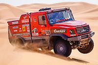 5th January 2021; Dakar Rally stage 3; #505 Vishneuski Aliaksei (blr), Novikau Maksim (blr), Sachuk Siarhei (blr), Maz, Maz-Sportauto, Camion, Truck, action during the 3rd stage of the Dakar 2021 between Wadi Al Dawasir and Wadi Al Dawasir, in Saudi Arabia on January 5, 2021