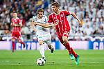 Real Madrid Luka Modric and Bayern Munich Robert Lewandowski during Semi Finals UEFA Champions League match between Real Madrid and Bayern Munich at Santiago Bernabeu Stadium in Madrid, Spain. May 01, 2018. (ALTERPHOTOS/Borja B.Hojas)