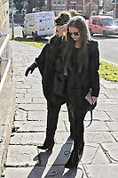 COPY BY TOM BEDFORD<br /> Pictured: Shanice Clark (R) arrives at Newport Coroner's Court. Monday 26 February 2018<br /> Re: Inquest to be held at Newport Coroner's Court, into the death of five year old Ellie-May Clark who died of an asthma attack, after being refused a GP appointment in Newport, south Wales. <br /> Dr Joanne Rowe refused to see her, on the grounds that her mother was a few minutes late for a booked appointment.<br /> A few hours later, Ellie-May Clark suffered a seizure and died, despite the efforts of an ambulance crew.