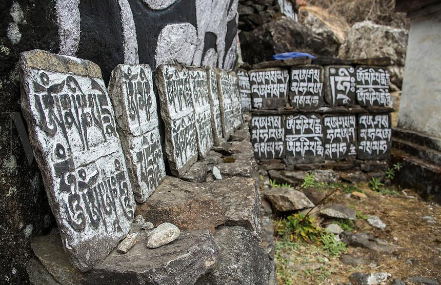 Nachipang Nepal Mani Wall in the village of Nachipang, Solukhumbu