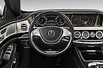 Car pictures of steering wheel view of a 2017 Mercedes Benz S-Class Maybach 4 Door Sedan Steering Wheel