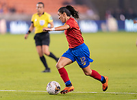 HOUSTON, TX - JANUARY 28: Lixy Rodriguez #12 of Costa Rica dribbles during a game between Costa Rica and Panama at BBVA Stadium on January 28, 2020 in Houston, Texas.