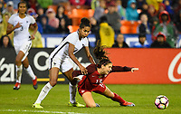 Washington, D.C. - March 7, 2017: France takes a 3-0 lead over the U.S. Women's national team in second half play in a SheBelieves Cup match at RFK Stadium.