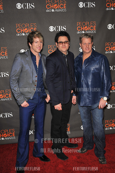 Rascal Flatts at the 2010 People's Choice Awards at the Nokia Theatre L.A. Live in Los Angeles..January 6, 2010  Los Angeles, CA.Picture: Paul Smith / Featureflash