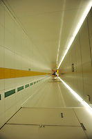 Pedestrian tunnel b in the Shinbashi district of downtown Tokyo. ..Photo by Richard Jones/Sinopix