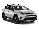 2016 Toyota RAV 4 SE 5 Door SUV angular front stock photos of front three quarter view