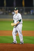 Siena Saints relief pitcher Matt Pierce (34) delivers a pitch during a game against the UCF Knights on February 17, 2017 at UCF Baseball Complex in Orlando, Florida.  UCF defeated Siena 17-6.  (Mike Janes/Four Seam Images)