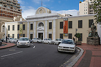 South Africa, Cape Town.  Iziko Slave Lodge, formerly Government Office Building, Old Supreme Court.  Statue of Jan Smuts on the right.