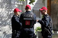Policiers du SPVM lors du conflit syndical , Octobre 2014