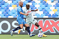 Victor Osimhen of SSC Napoli compete for the ball<br /> during the friendly football match between SSC Napoli and Pescara Calcio 1936 at stadio San Paolo in Napoli, Italy, September 11, 2020. <br /> Photo Cesare Purini / Insidefoto