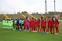 BOGOTÁ - COLOMBIA, 28-03-2018:Formación de Patriotas Boyacá contra  La Equidad  durante partido por  la sexta Fecha de Liga Aguila Femenina 2018 jugado en el estadio Metropolitano de Techo de la ciudad de Bogotá. / Team of Patriotas  agaisnt Equidad during the match for the date 6 of the Women's Aguila  League 2018 played at the Metroplitano de Techo  Stadium in Bogota city. Photo: VizzorImage / Felipe Caicedo / Staff.