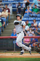 Trenton Thunder first baseman Tyler Austin (17) hits a home run during a game against the Binghamton Mets on May 29, 2016 at NYSEG Stadium in Binghamton, New York.  Trenton defeated Binghamton 2-0.  (Mike Janes/Four Seam Images)