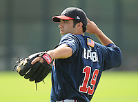 17 March 2009: Ryan Barba of the Atlanta Braves at Spring Training camp at Disney's Wide World of Sports in Lake Buena Vista, Fla. Photo by:  Tom Priddy/Four Seam Images