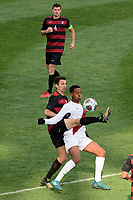 Chester, PA - Sunday December 10, 2017: Drew Skundrich, Mason Toye. Stanford University defeated Indiana University 1-0 in double overtime during the NCAA 2017 Men's College Cup championship match at Talen Energy Stadium.