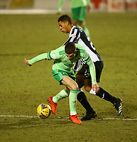 10th February 2021; St Mirren Park, Paisley, Renfrewshire, Scotland; Scottish Premiership Football, St Mirren versus Celtic; Ethan Erhahon of St Mirren tackles Ryan Christie of Celtic