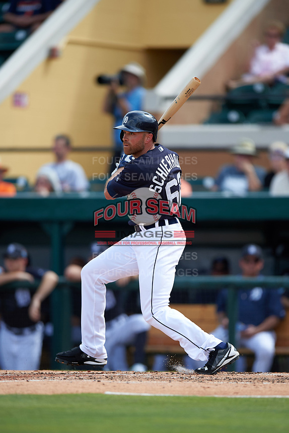 Detroit Tigers Nate Schierholtz (62) at bat during an exhibition game against the Florida Southern Moccasins on February 29, 2016 at Joker Marchant Stadium in Lakeland, Florida.  Detroit defeated Florida Southern 7-2.  (Mike Janes/Four Seam Images)