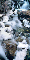 920000016 panoramic view of frozen first falls below middle palisades glacier in the eastern sierras near big pine california