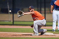 Houston Astros Troy Sieber (77) during a Minor League Spring Training Intrasquad game on March 28, 2018 at FITTEAM Ballpark of the Palm Beaches in West Palm Beach, Florida.  (Mike Janes/Four Seam Images)