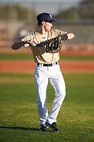 Lucas Geiszler (45), from Carrington, North Dakota, while playing for the Brewers during the Under Armour Baseball Factory Recruiting Classic at Gene Autry Park on December 27, 2017 in Mesa, Arizona. (Zachary Lucy/Four Seam Images)