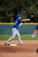 Matthew Walker (23), from Jefferson, Maryland, while playing for the Dodgers during the Baseball Factory Pirate City Christmas Camp & Tournament on December 30, 2017 at Pirate City in Bradenton, Florida.  (Mike Janes/Four Seam Images)