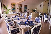 Honduras, Roatan Island, Fantasy Island Resort, Caribbean. Hotel dining room.