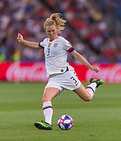 PARIS,  - JUNE 28: Sam Mewis #3 shoots during a game between France and USWNT at Parc des Princes on June 28, 2019 in Paris, France.