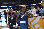 Glasgow 2014 Commonwealth Games<br /> <br /> Nicola Adams celebrates with fans after winning gold.<br /> <br /> 02.08.14<br /> ©Steve Pope-SPORTINGWALES