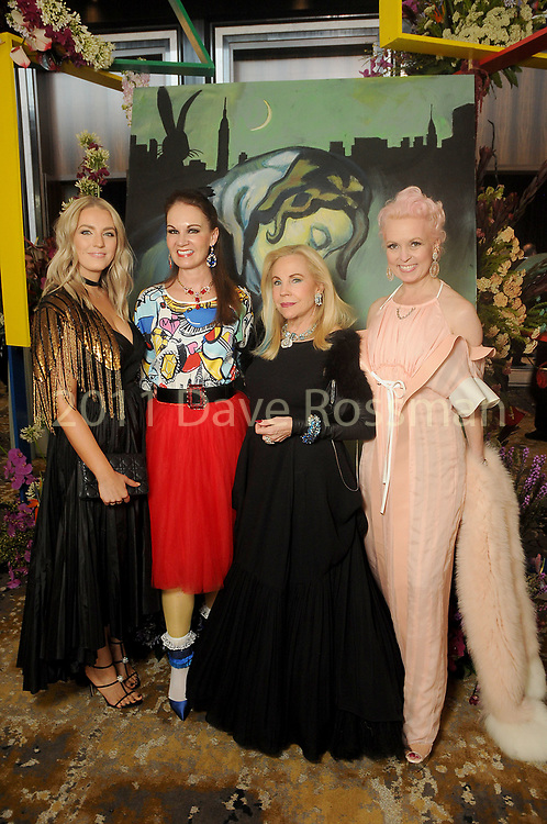 From left: Abby Venegas, Beth Muecke, Carolyn Farb and Vivian Wise at the Alley Ball, Picasso and the Avant Garde, at The Post Oak Hotel Saturday April 28,2018.(Dave Rossman Photo)
