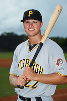 GCL Pirates outfielder Austin Meadows (22) poses for a photo after a game against the GCL Astros on July 16, 2013 at Osceola County Complex in Kissimmee, Florida.  GCL Pirates defeated the GCL Astros 6-3.  (Mike Janes/Four Seam Images)