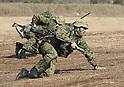New year exercise at Defense Force's Narashino training ground
