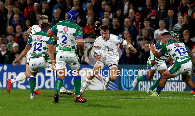 Friday 8th October 2021<br /> <br /> Ethan McIlroy during the URC Round 3 clash between Ulster Rugby and Benetton Rugby at Kingspan Stadium, Ravenhill Park, Belfast, Northern Ireland. Photo by John Dickson/Dicksondigital