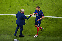 Didier Deschamps ( selectionneur - entraineur - France ) - Karim Benzema ( 19 - France ) - <br /> during the Uefa Euro 2020 Group stage football match between France and Germany at football Arena in Munich (Germany), June 15th, 2021. Photo Federico Pestellini / Panoramic / Insidefoto <br /> ITALY ONLY