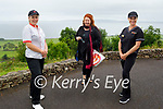 Singer Mary Coughlan on her visit to do a concert for the residents of Aspree Nursing Home in Camp on Monday standing with staff members. L to r:  Maura Lynch Moriarty, Mary Coughlan and Rose Smith.