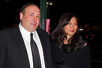 James Gandolfini and Deborah Lin arrive for the New York Film Critics Circle Awards in New York City.