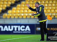 Phoenix coach Ernie Merrick during the A-League football match between Wellington Phoenix and Newcastle Jets at Westpac Stadium in Wellington, New Zealand on Saturday, 5 November 2016. Photo: Dave Lintott / lintottphoto.co.nz