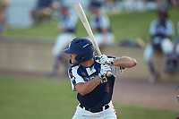Michael Turconi (4) (Wake Forest) of the High Point-Thomasville HiToms at bat against the Deep River Muddogs at Finch Field on June 27, 2020 in Thomasville, NC.  The HiToms defeated the Muddogs 11-2. (Brian Westerholt/Four Seam Images)