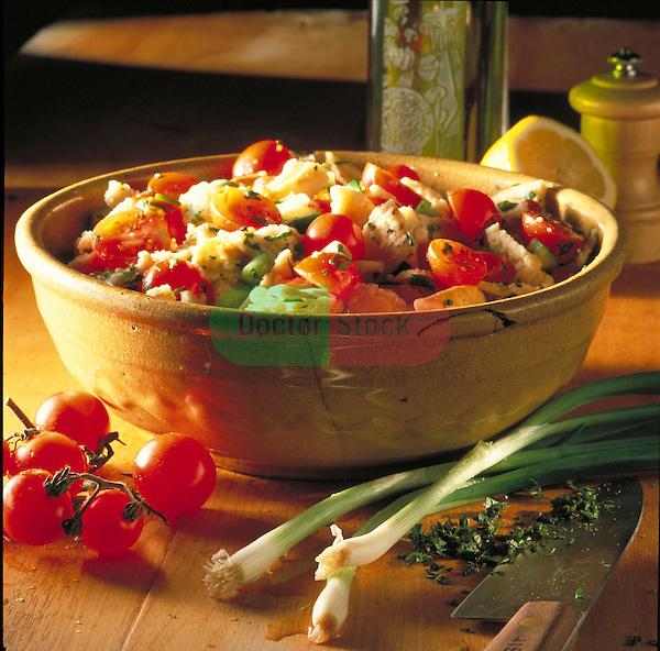 cherry tomato and scallion salad