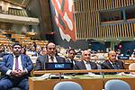 72 General Debate – 20 September <br /> <br /> 1His Highness Sheikh Jaber Al-Mubarak Al-Hamad Al Sabah, Prime Minister of the State of Kuwait<br /> <br /> Delegate of Prime Minister of the State of Kuwait, Waiting  patiently to be correctly announce