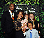 Honoree Merele Yarborough with her son Leland, daughter-in-law Amy, and grandchildren Lily and Leam at the Houston Chronicle's Best Dressed Announcement Party at Neiman Marcus Wednesday Jan. 30, 2013.(Dave Rossman/ For the Chronicle)