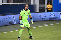 KANSAS CITY, UNITED STATES - AUGUST 25: Marko Maric #1 of Houston Dynamo  a game between Houston Dynamo and Sporting Kansas City at Children's Mercy Park on August 25, 2020 in Kansas City, Kansas.