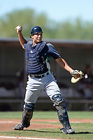 Seattle Mariners catcher Steven Baron (45) during an instructional league game against the Kansas City Royals on October 2, 2013 at Surprise Stadium Training Complex in Surprise, Arizona.  (Mike Janes/Four Seam Images)
