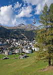 Schweiz, Graubuenden, Davos: international bekannter Luftkurort | Switzerland, Graubuenden, Davos: international climatic spa